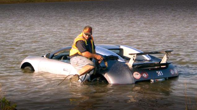 Bugatti Veyron lake crash Texas