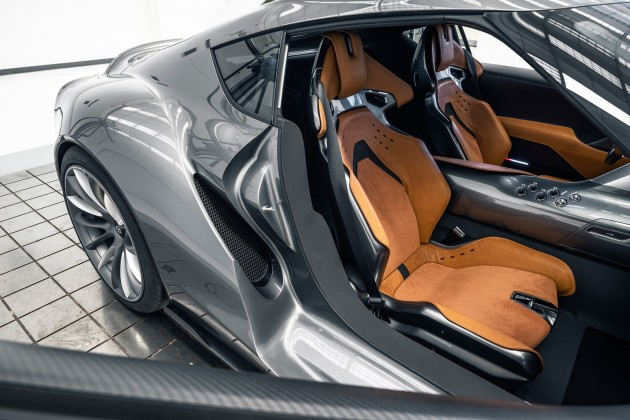 Grey Toyota FT-1 concept-seats