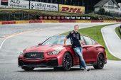 Vettel races Infiniti Q50 Eau Rouge at Spa, sort of (video)