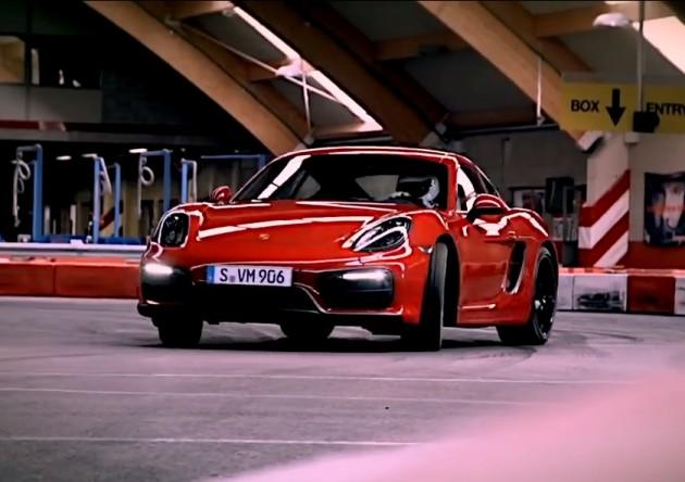 Porsche Cayman GTS go-kart track