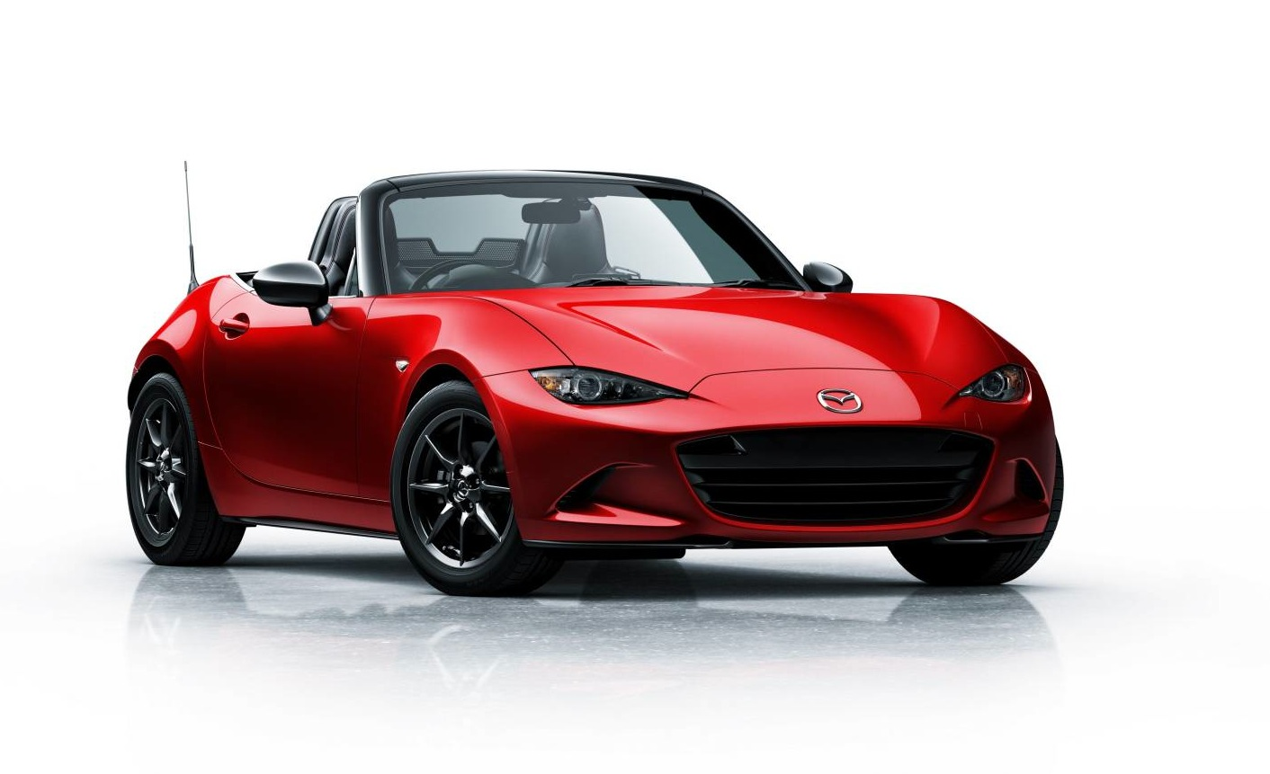 This is it, the all-new 2015 Mazda MX-5. It made its international