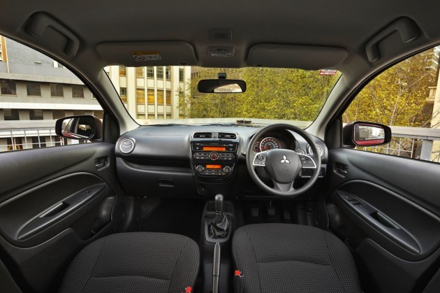 2015 Mitsubishi Mirage interior