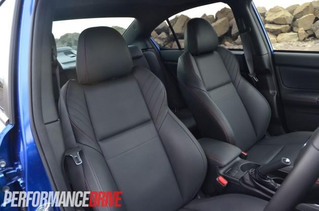 2015 Subaru WRX Premium front seats leather