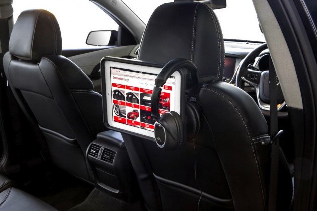 Holden Colorado Black Edition accessory pack iPad holder