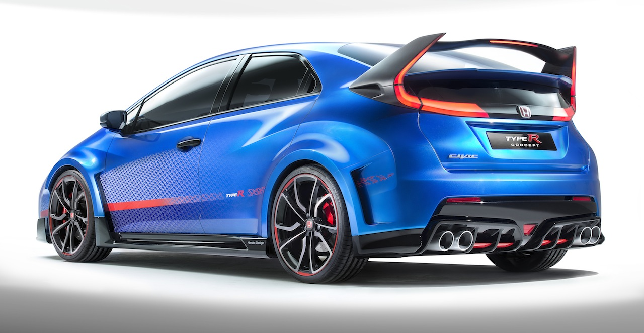 Blue Honda Civic Type R concept set for Paris, new details