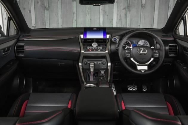 Lexus NX 300h F Sport interior