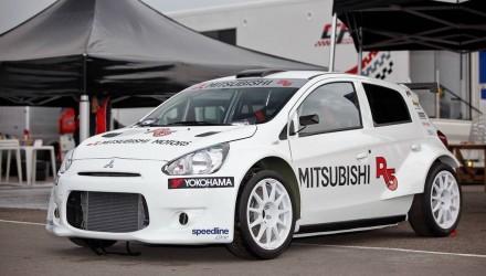 Mitsubishi Mirage R5 rally car