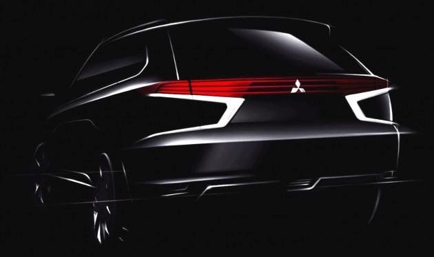 Mitsubishi Outlander PHEV Concept-S teaser-rear