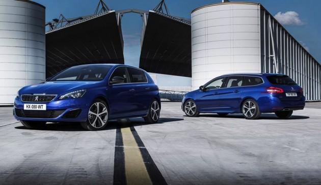 Peugeot 308 GT hatch and wagon