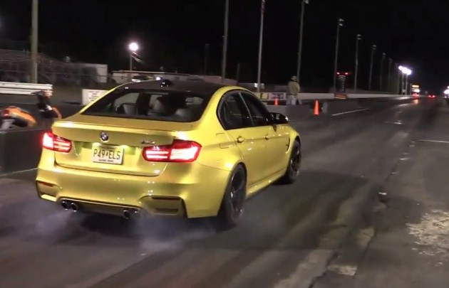 2014 BMW M3 quarter mile