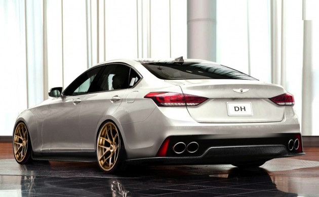 ARK Performance SEMA 2015 Hyundai Genesis V8 supercharged rear