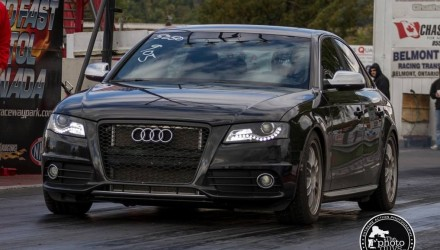 AWE Tuning Audi S4 quarter mile record