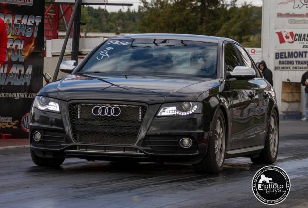 AWE Tuning Audi S4 quarter mile record
