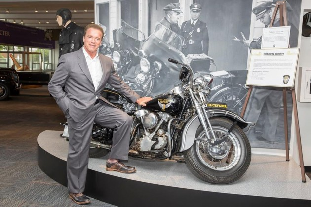 Arnold Schwarzenegger Ohio State Highway Patrol Museum motorcycle