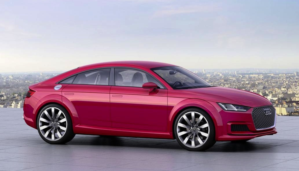 audi tt sportback concept revealed at paris motor show. Black Bedroom Furniture Sets. Home Design Ideas