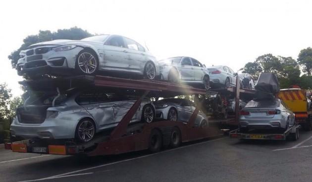 BMW M3 damages Mission Impossible 5