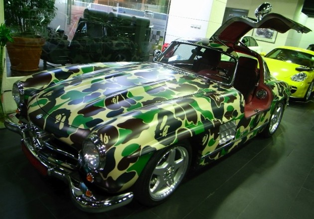 Camouflage Mercedes-Benz SL Gullwing