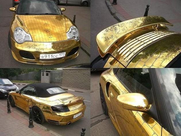 Gold-plated Porsche 911 Turbo-Russia
