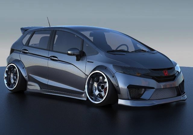 six custom honda jazz show cars heading to 2014 sema. Black Bedroom Furniture Sets. Home Design Ideas