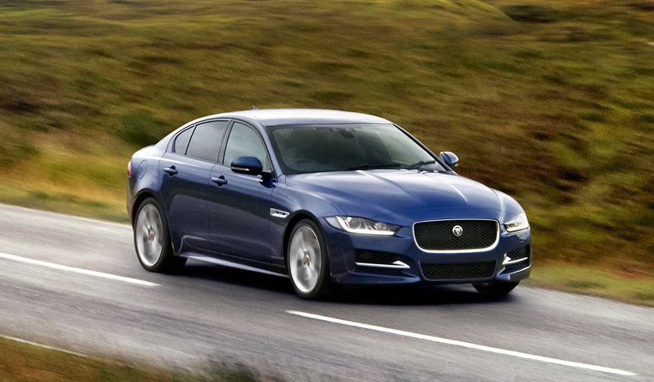 jaguar xe officially unveiled at 2014 paris motor show. Black Bedroom Furniture Sets. Home Design Ideas