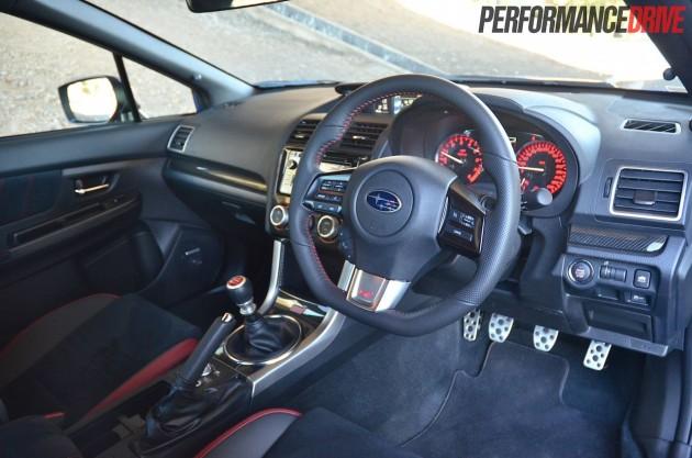 2014 Subaru WRX STI front dash