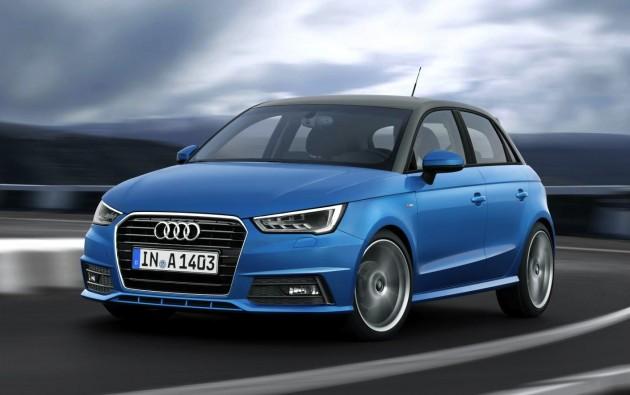 2015 Audi A1 Sportback-blue