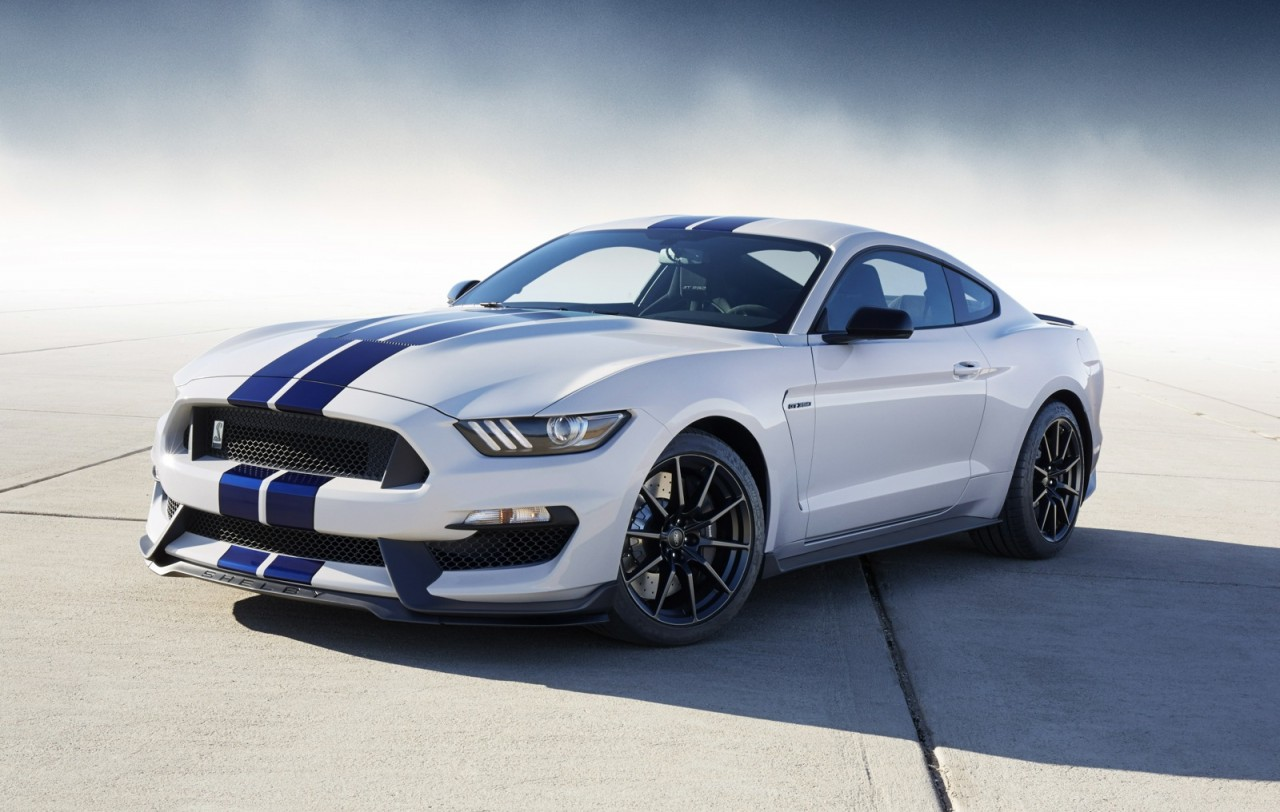 2015 shelby gt350 white blue stripes - Ford Mustang Gt 2015 White