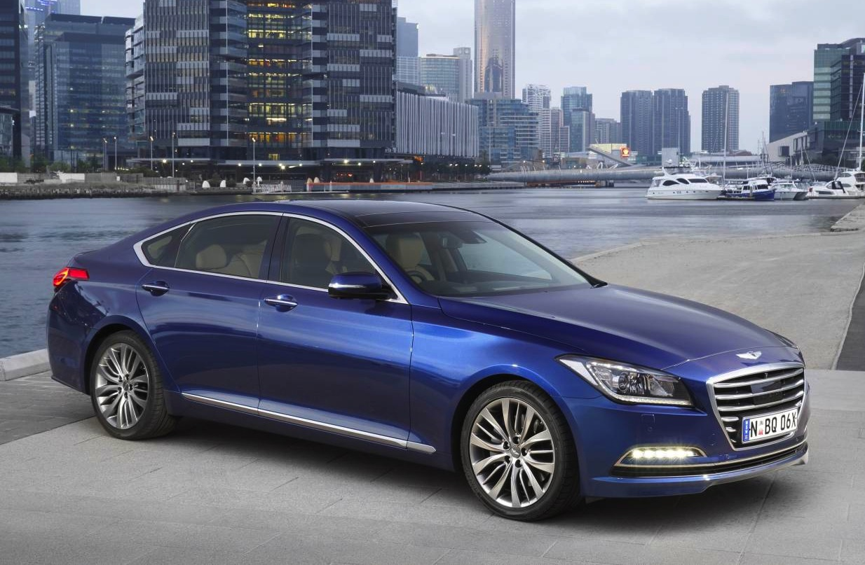 2015 hyundai genesis on sale in australia from 60 000 performancedrive. Black Bedroom Furniture Sets. Home Design Ideas