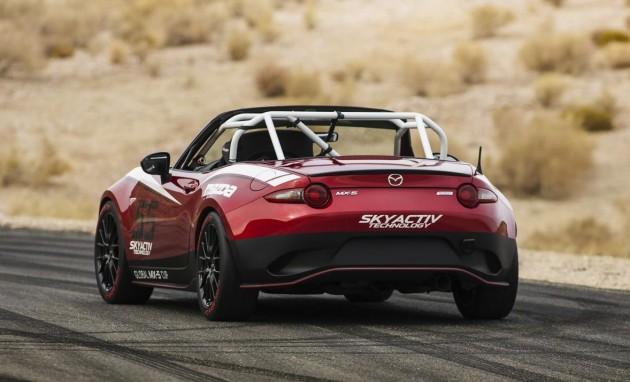 2015 Mazda MX-5 Cup car-rear