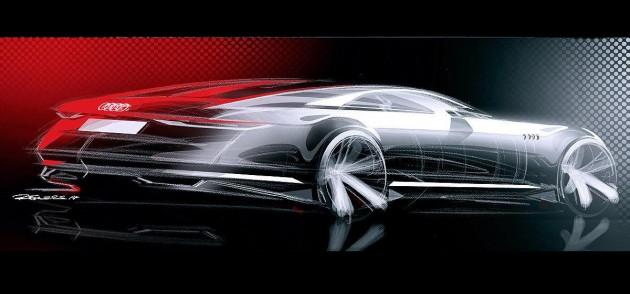 Audi Prologue concept sketch-rear