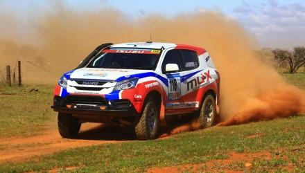 Isuzu MU-X rally car