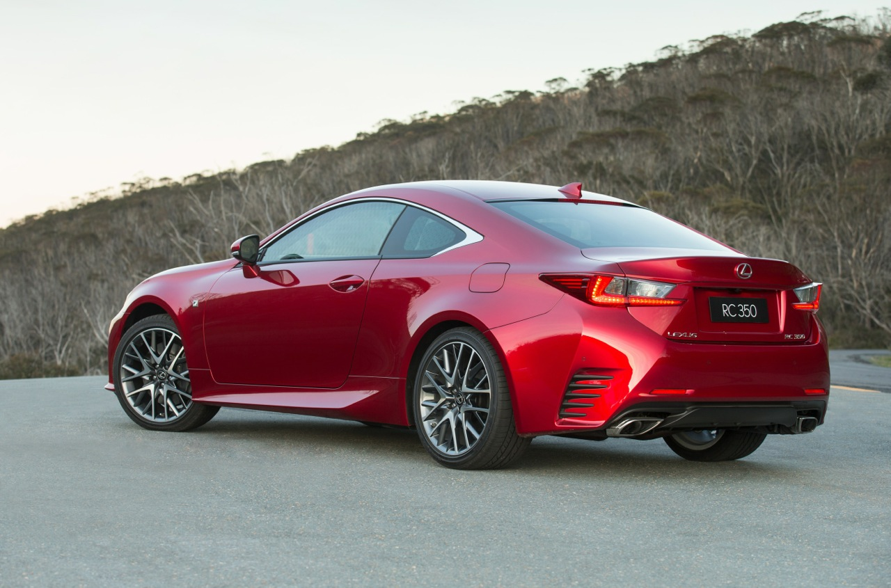 lexus rc 350 coupe now on sale in australia from 66 000. Black Bedroom Furniture Sets. Home Design Ideas
