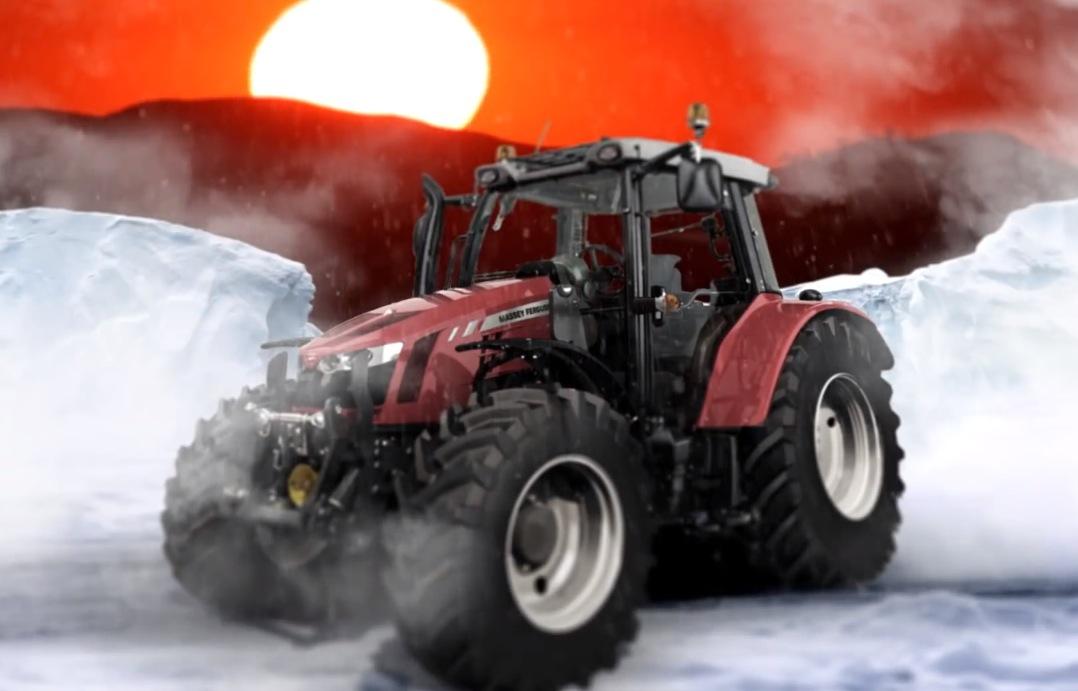 Massey Ferguson Girls : Tractor girl on her way to south pole in massey ferguson