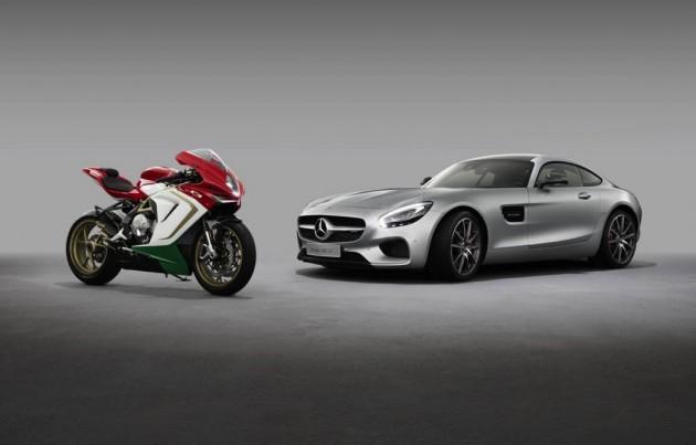 Mercedes-AMG GT and MV Agusta F3 800