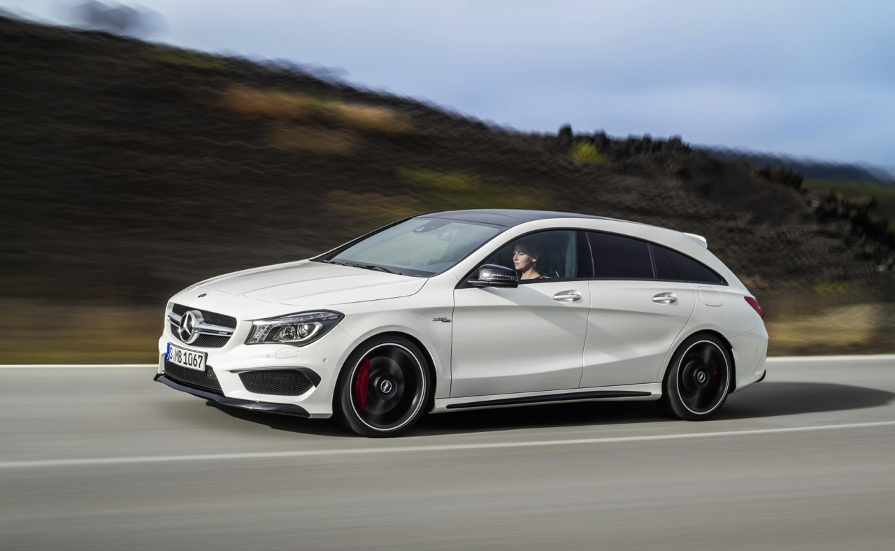 mercedes benz cla cla 45 amg shooting brake revealed performancedrive. Black Bedroom Furniture Sets. Home Design Ideas