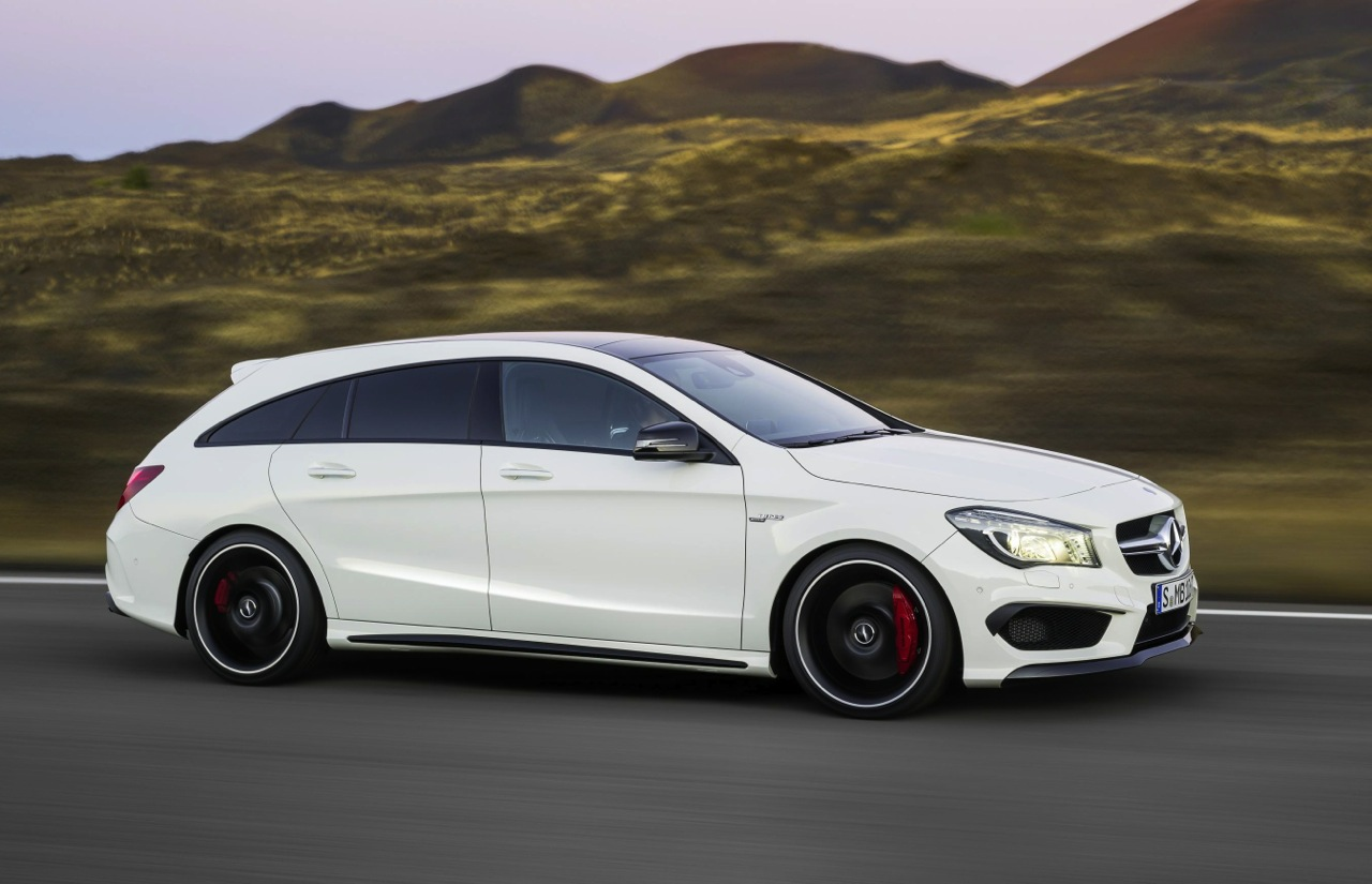 mercedes benz cla cla 45 amg shooting brake revealed. Black Bedroom Furniture Sets. Home Design Ideas