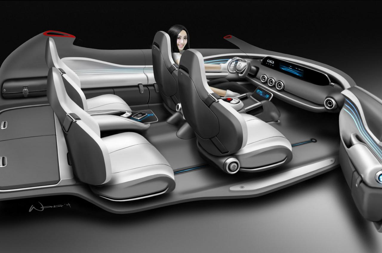 mercedes benz g code concept interior. Black Bedroom Furniture Sets. Home Design Ideas