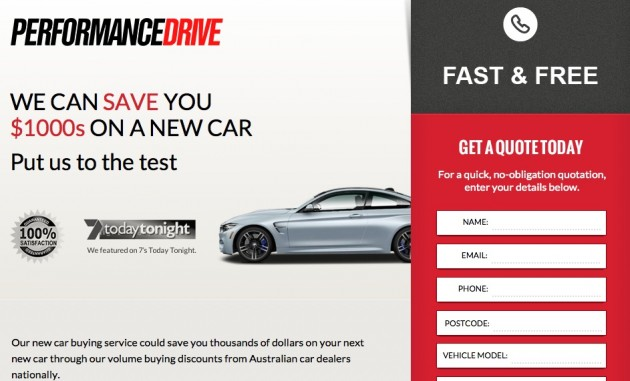 PerformanceDrive car buying page