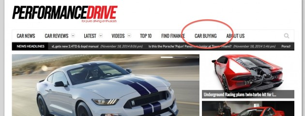 PerformanceDrive online car buying link