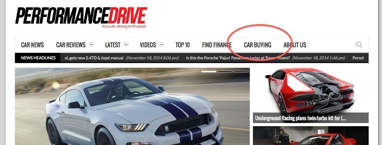 performancedrive announces free online car buying service performancedrive. Black Bedroom Furniture Sets. Home Design Ideas
