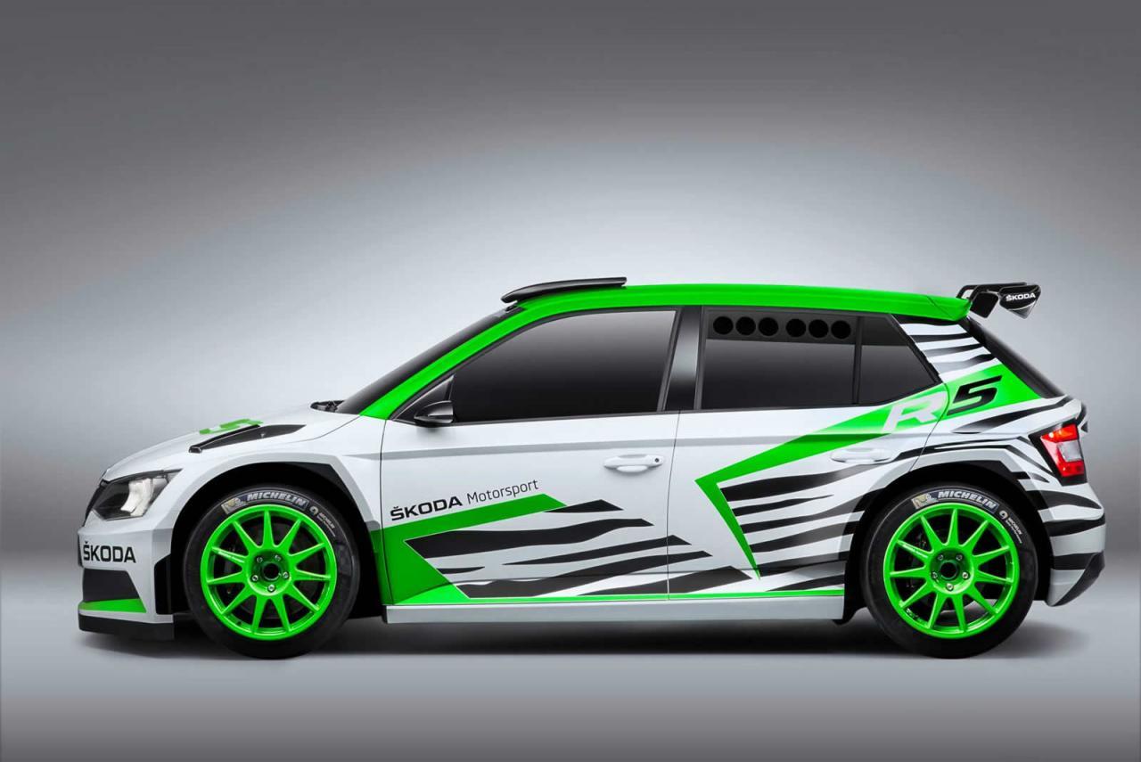 skoda fabia r5 concept previews 2015 wrc 2 rally car performancedrive. Black Bedroom Furniture Sets. Home Design Ideas