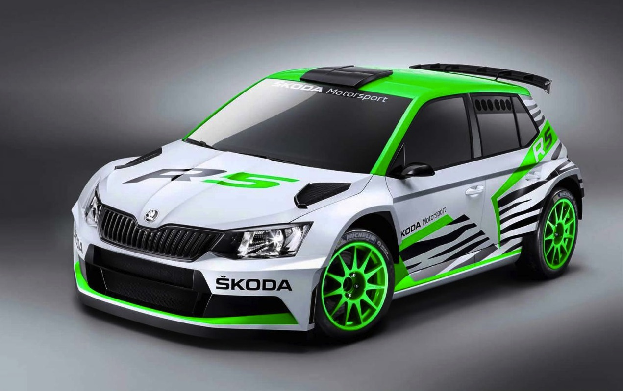 skoda fabia r5 concept previews 2015 wrc 2 rally car performancedrive. Black Bedroom Furniture Sets. Home Design Ideas
