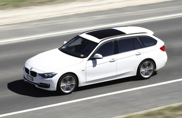 BMW 3 Series Touring-white