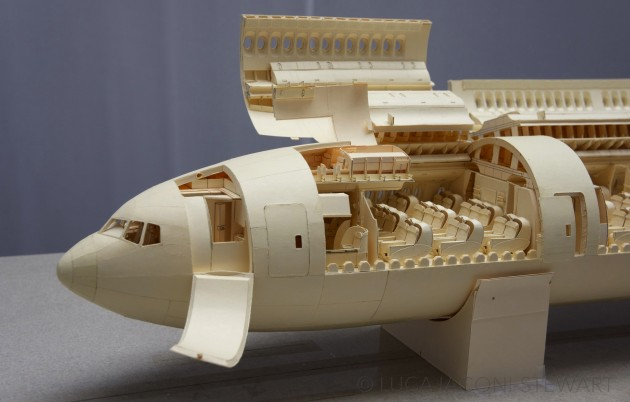 Boeing 777 manila folder paper-cabin