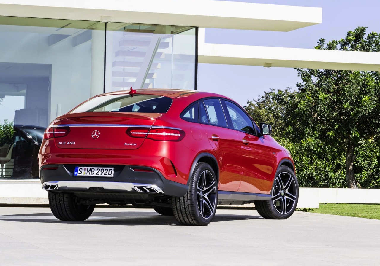 Mercedes benz gle coupe revealed debuts amg sport 39 450 for Mercedes benz gle 63 amg