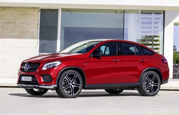 Mercedes-Benz GLE 450 AMG Coupe-red