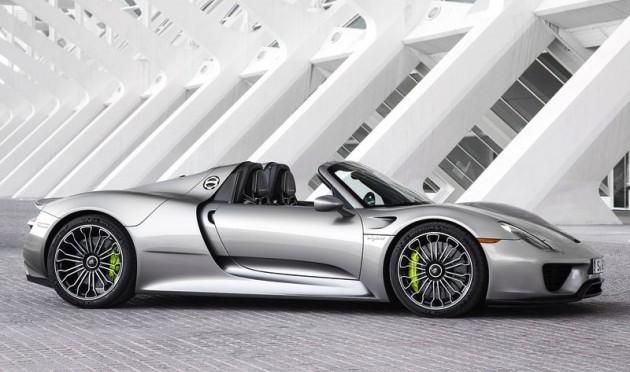 Porsche 918 Spyder-silver