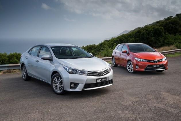 2014 Toyota Corolla sedan and hatch