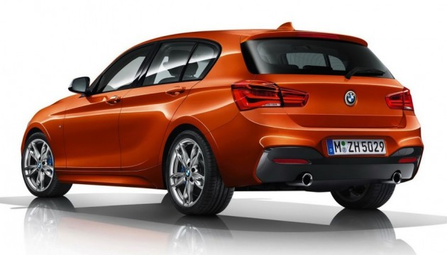 2015 BMW M135i-rear