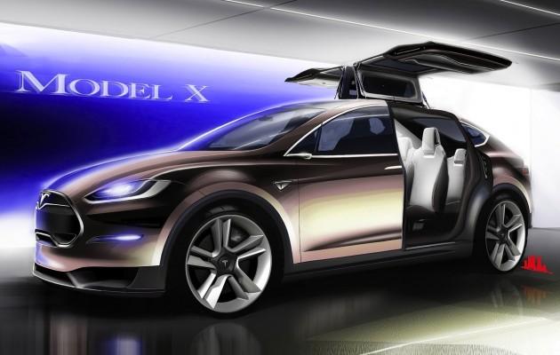 Tesla Model X sketch